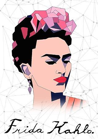 Quadro Decorativo Frida Kahlo Abstrato - PT0011