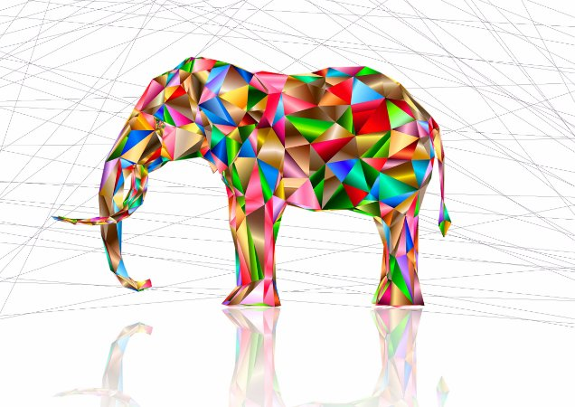 Quadro Decorativo Elefante - AN0001