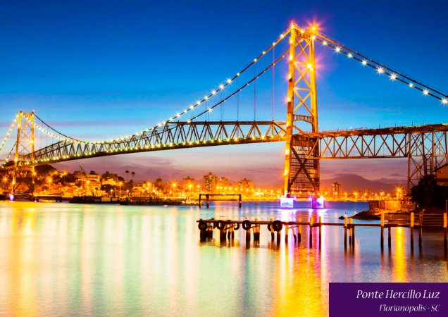 Quadro Decorativo Ponte Hercilio Luz - FT0002