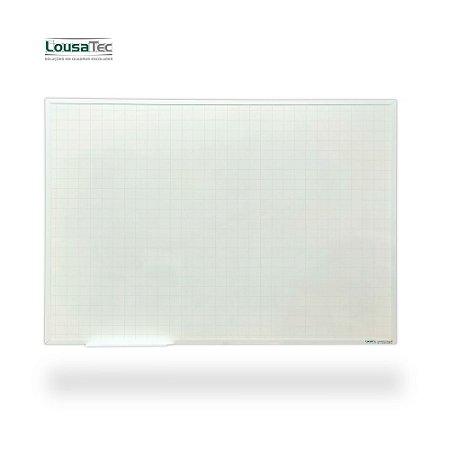 Quadro Branco Quadriculado Reto - Lousa Profissional - Moldura Alumínio Epoxi Branco