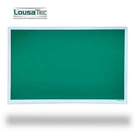 Quadro Verde Liso Reto - Lousa Profissional - Moldura Alumínio Epoxi Branco