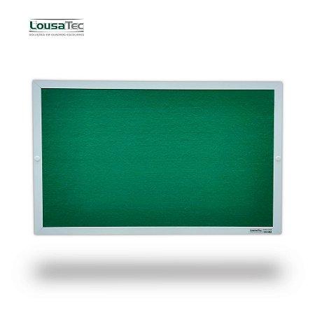 Quadro Edital de Aviso Simples - Feltro Verde - Moldura Alumínio Epoxi Branco