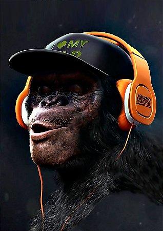 Quadro Decorativo Monkey Hear - AN0005