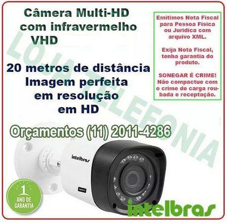 Instalação de Câmera de Segurança - Intelbras Multi-hd 20 metros