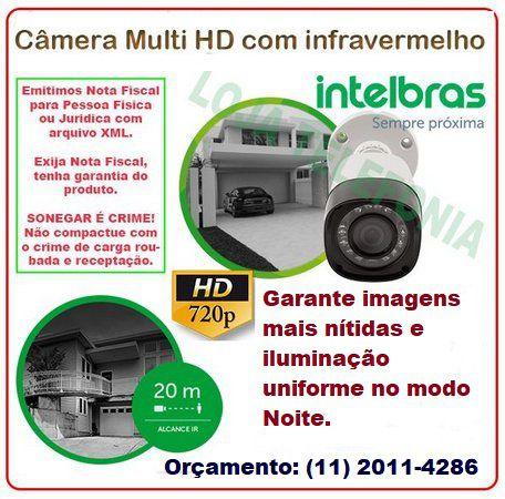 Instalação de Câmera de Segurança - Intelbras Multi HD 20 metros
