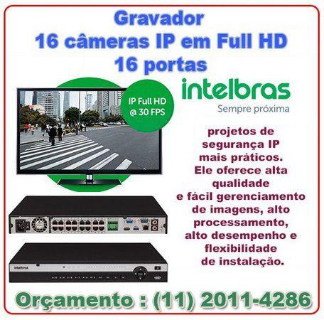 Gravador de Imagem Intelbras DVR IP Full HD 16 CANAIS