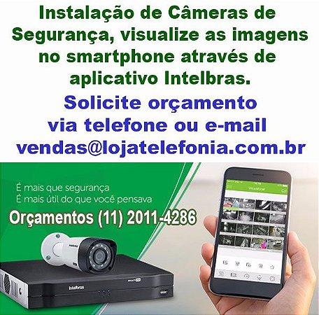 Instalação de Câmeras de Segurança no ABC - Autorizada Intelbras