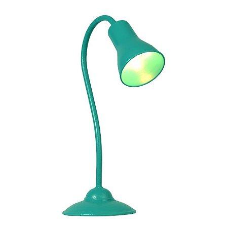 Luminária turquesa