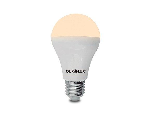 Lâmpada Bulbo LED Ourolux Bivolt 9W 3000K (Luz Quente)