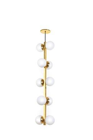 Pendente Vertical Dourado 10 Lâmpadas Old Artisan