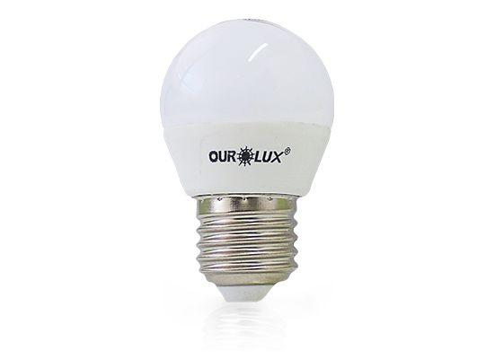 Lâmpada Bolinha LED Ourolux Bivolt 4W 6500K (Luz Fria)