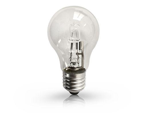 Lâmpada Bulbo Halógena Ourolux 220V 42W 2800K (Luz Quente)