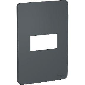 Placa 4x2 para 1 Módulo Schneider Orion Preto