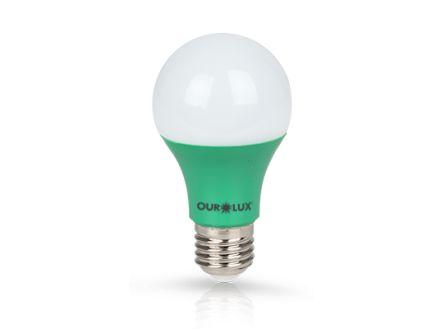 Lâmpada Bulbo LED Ourolux Bivolt 7W Verde