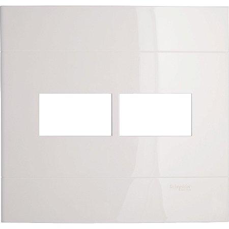 Placa 4x4 para 2 Módulos Schneider Decor