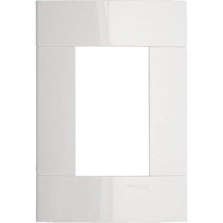 Placa 4x2 para 3 Módulos Schneider Decor