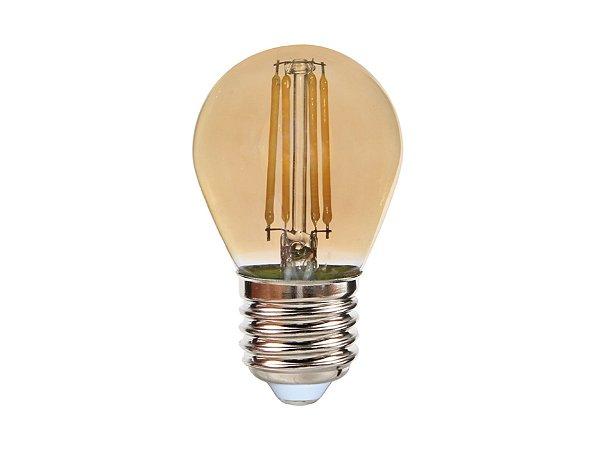 Lâmpada Bolinha LED Vintage MBLED 4W 2200K (Luz Quente)