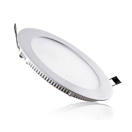 Placa LED de Embutir Redonda Ourolux 18W 2700K (Luz Quente)