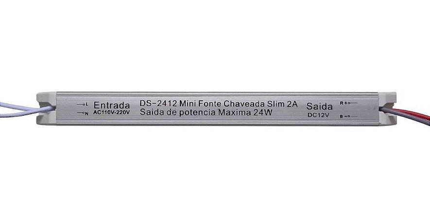 Mini Fonte Chaveada Slim Delis 12V 2A 24W