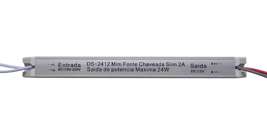 Mini Fonte Chaveada Slim Andeli 12V 2A 24W