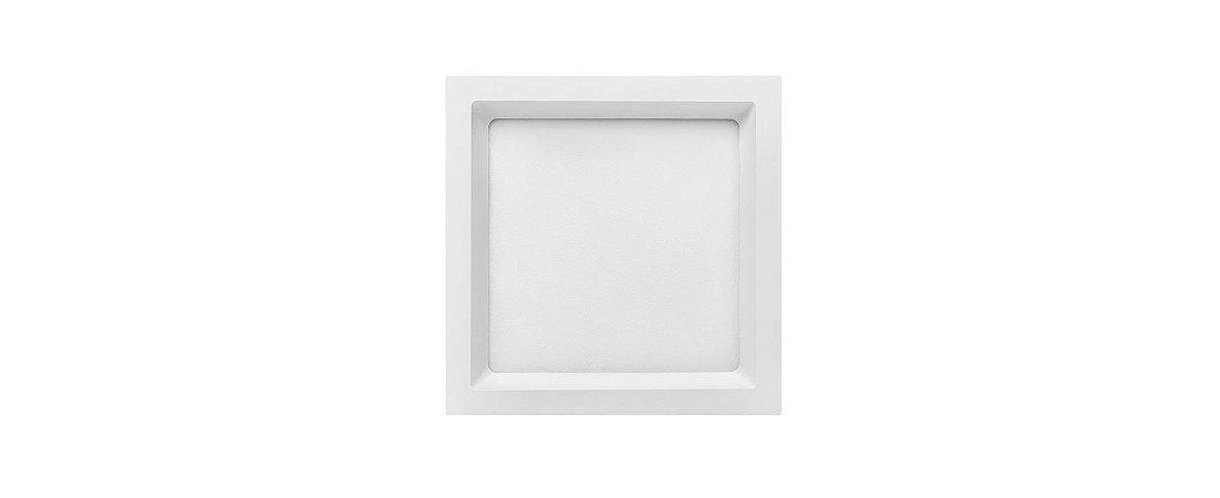 Placa LED de Embutir Recuada Stella 18W 5700K (Luz Fria)