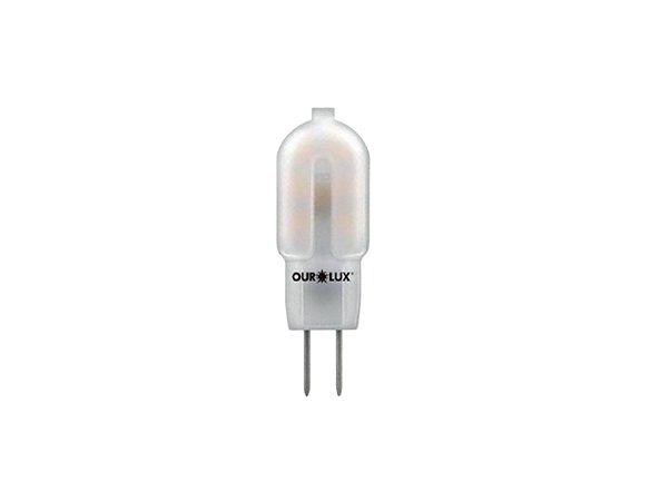Lâmpada G4 LED Ourolux 1,2W 12V 6500K (Luz Fria)