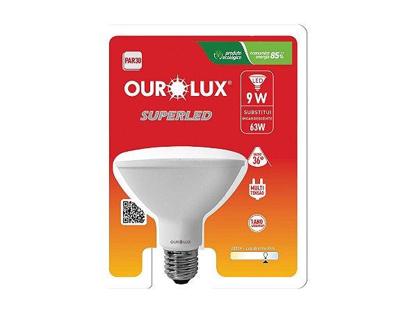 Lâmpada PAR30 LED Ourolux 9W 6500K (Luz Fria)