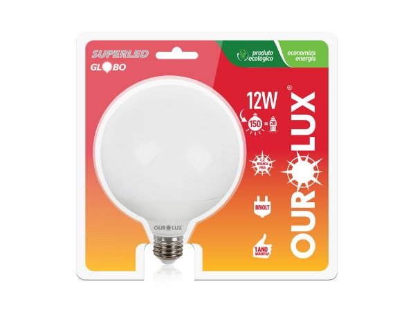 Lâmpada Ballon LED Ourolux 12W 6500K (Luz Fria)