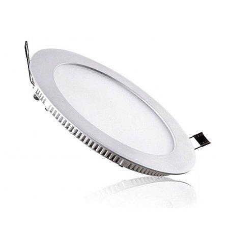 Placa LED de Embutir Redonda Ourolux 24W 6400K (Luz Fria)