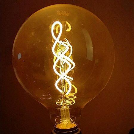 Lâmpada LED G125 Espiral 4W 2.400K E27 Bivolt