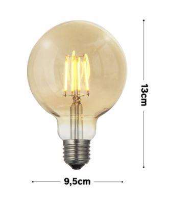 Lâmpada Vintage LED G95 GMH Squirrel Cage 4W E27 Bivolt