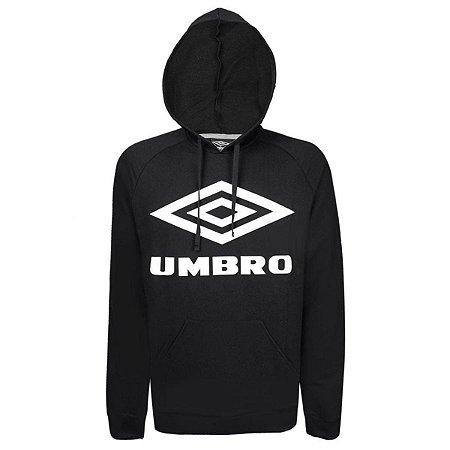 BLUSA MOLETOM UMBRO TWR LOGO PRETO/BRANCO