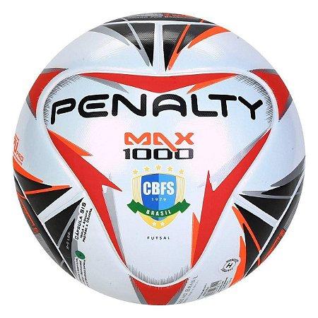 BOLA PENALTY FUTSAL MAX 1000 BCO/PTO