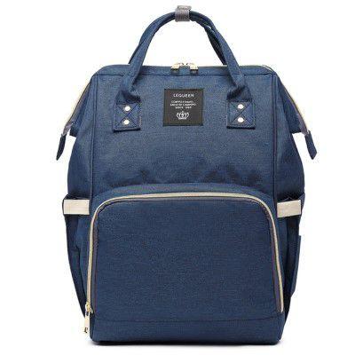 f98346acb Bolsa Mochila Maternidade LeQueen Original Azul Marinho - Compre ...
