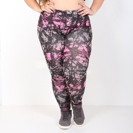Calça Legging Plus Size Estampada