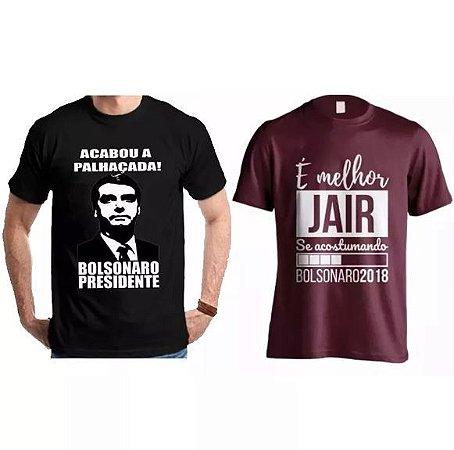 Camiseta Jair Bolsonaro Presidente 100% Algodão