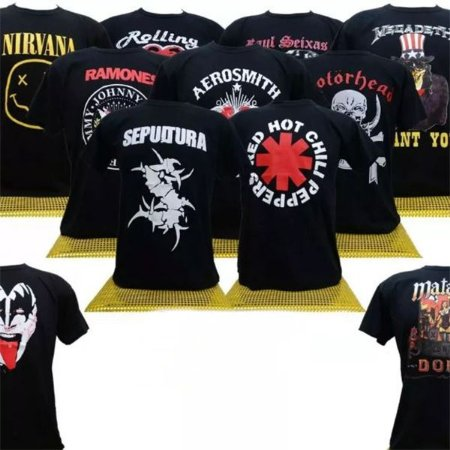 Camisetas Bandas De Rock Plus Size