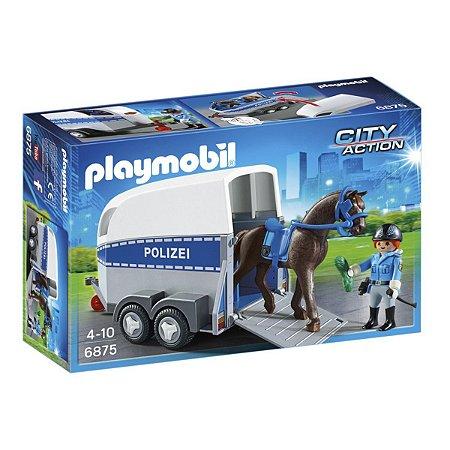 Playmobil 6875 City Action Policia Montada com Trailer
