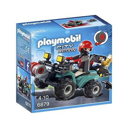 Playmobil 6879 Fugitivo Com Quadriciclo City Action