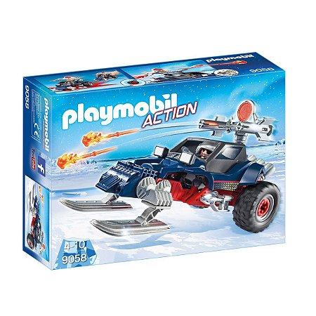 Playmobil 9058 Pirata Do Gelo Com Moto