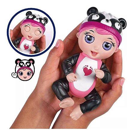 Kit 3 Tiny Toes Boneca Interativa Gaby Risonha Luna e Tess