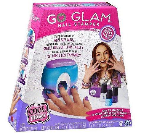 Conjunto Pintura De Unhas Go Glam Nail Stamper Sunny 2130