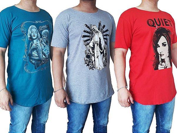 Camiseta Masculina Long (Kit com 5 Unidades)