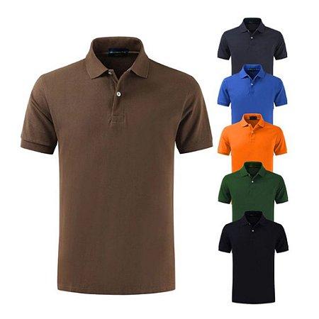 Camiseta Polo Masculina (Kit com 10 Unidades)