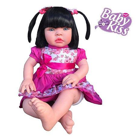 Boneca Baby Kiss C/ Som Chora E Balbucia Morena