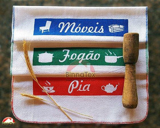 Panos de limpeza - Kit com 3 peças