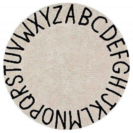 Tapete ABC Preto - (1,5m diametro) Lorena Canals