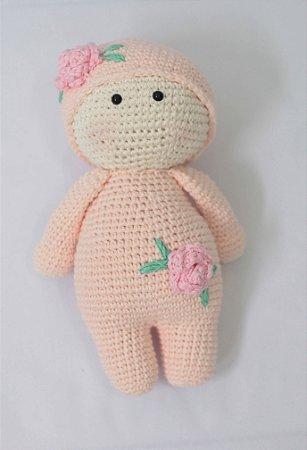 Boneca Holly rosa - Amigurumi