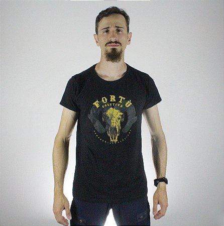 Camiseta Slim Fortù Elemento Preta