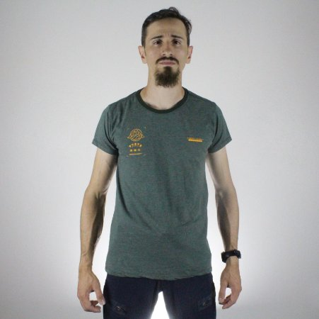 Camiseta Slim Fortù Coordenadas Verde